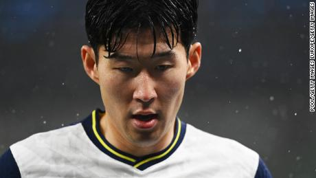 Son Heung-Min was racially abused online after Sunday's match.