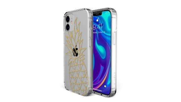 Shiny Gold Pineapple Clear Case