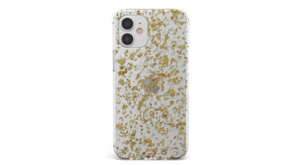 Rose and Gold Flaked Clear Case