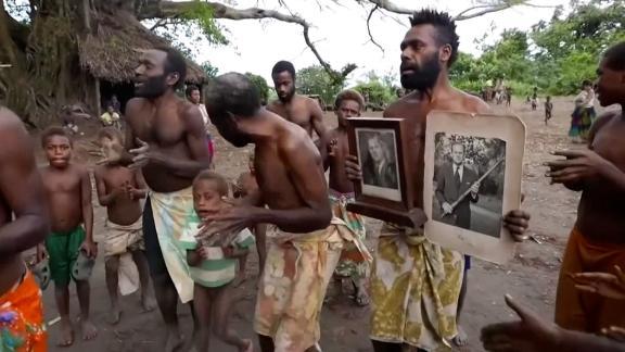 screengrab Vanuatu villagers mourn philip