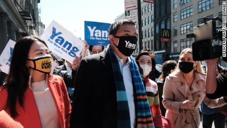 Yang has been working to draw attention to recent assaults against Asians both in New York and the country.