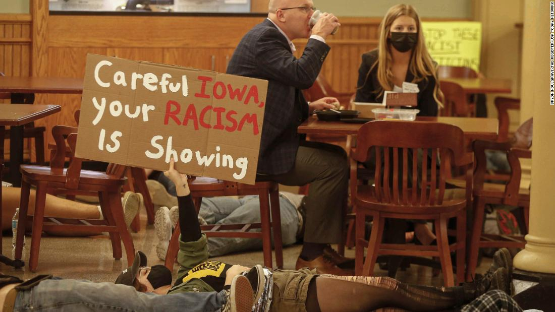 Fact check: How a group of right-wingers spread a lie that Black Lives Matter stormed Iowa's Capitol