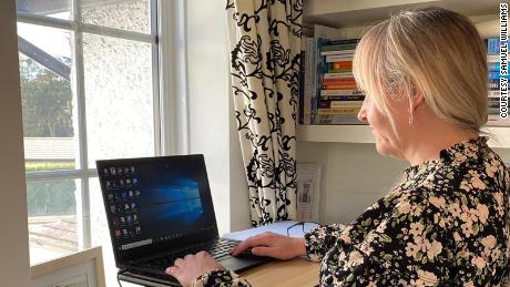 Sarah Williams, associate director of the Business School, University of Wolverhampton, UK, has been working from home for more than a year and misses the buzz of being on campus.