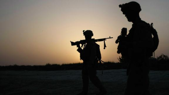 U.S. Marines conduct an operation to clear a village of Taliban fighters in July 2009 in Mian Poshteh, Afghanistan.