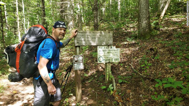 Despite his Parkinson's disease, this man aims to hike the entire Appalachian Trail