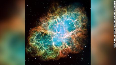 This mosaic image, one of the largest ever taken by NASA's Hubble Space Telescope of the Crab Nebula, is a six-light-year-wide expanding remnant of a star's supernova explosion. Japanese and Chinese astronomers witnessed this violent event nearly 1,000 years ago in 1054, as did, almost certainly, Native Americans.