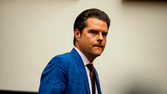 WASHINGTON, DC - DECEMBER 09: Representative Matt Gaetz (R-FL) arrives for a House Armed Services Subcommittee hearing with members of the Fort Hood Independent Review Committee on Capitol Hill on December 9, 2020 in Washington, DC. The U.S. Army has fired or suspended 14 leaders at Fort Hood following an investigation into the death of Specialist Vanessa Guillén and numerous other deaths and reports of sexual abuse on the military base. (Photo by Samuel Corum/Getty Images)
