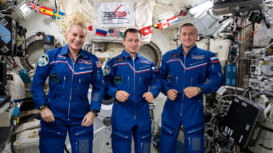 NASA astronaut and Russian cosmonauts are returning to Earth