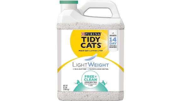 Purina Tidy Cats Free and Clean Lightweight Unscented Clumping Cat Litter