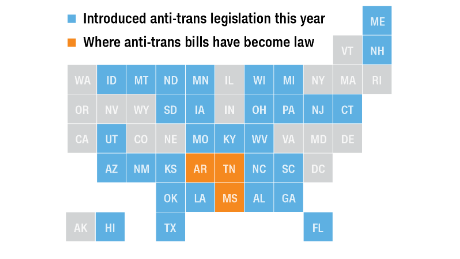 This record-breaking year for anti-transgender legislation would affect minors the most