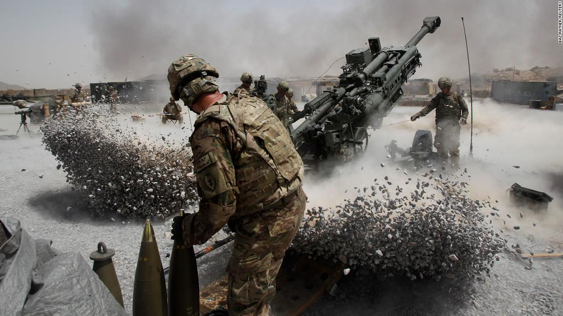 US soldiers fire artillery in Afghanistan's Kandahar province in June 2011. Operation Enduring Freedom was launched in October 2001 to stop the Taliban regime from providing a safe haven to al Qaeda and to stop al Qaeda's use of Afghanistan as a base of operations for terrorist activities.