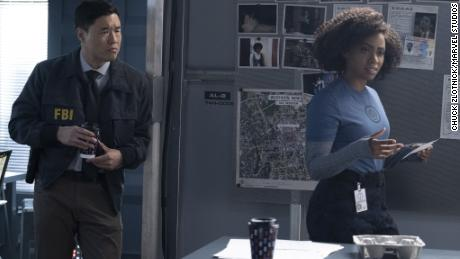 Randall Park and Teyonah Parris played key supporting roles in 'WandaVision' (Chuck Zlotnick/Marvel Studios)
