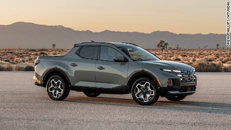 The Hyundai Santa Cruz shares much of its engineering with the Hyundai Tucson SUV.