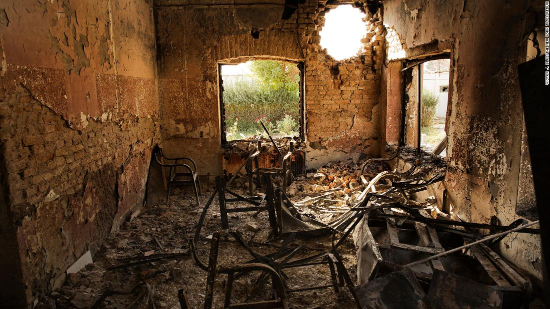 "This photo shows the aftermath of an American airstrike on a Doctors Without Borders hospital in Kunduz, Afghanistan, in October 2015. The hospital was <a href=""https://www.cnn.com/2015/10/05/asia/afghanistan-doctors-without-borders-hospital/index.html"" target=""_blank"">""accidentally struck""</a> by US bombs after Afghan forces called for air support, said Gen. John Campbell, the commander of US forces in Afghanistan."