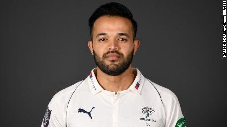 Rafiq poses for a portrait during the Yorkshire CCC media day.