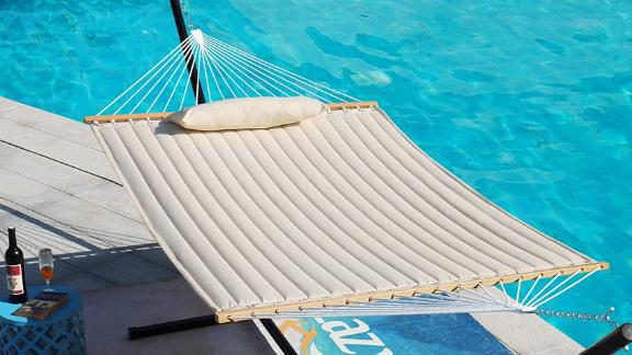 Lazy Daze Hammocks 55-Inch Double-Quilted Fabric Hammock