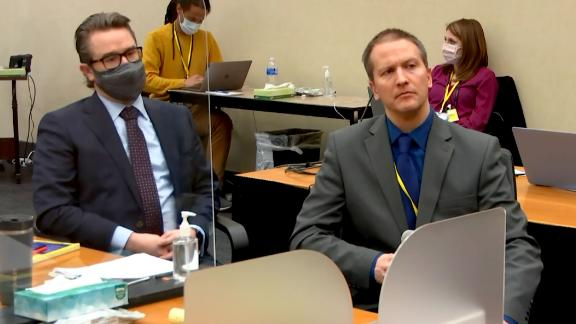 Former Minneapolis Police officer Derek Chauvin chooses not to testify at his trial on April 15. Sitting to his left is defense attorney Eric Nelson.