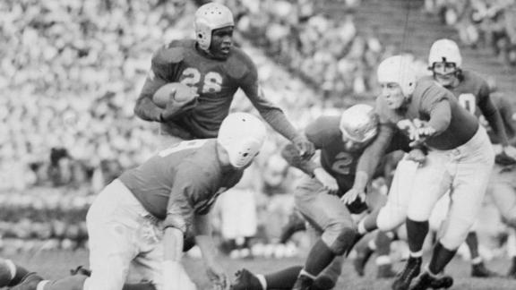 Robinson was a formidable athlete in college, lettering in four sports at UCLA. He led the nation in rushing as a football player. After college, Robinson was drafted by the US Army and spent a couple of years in the military.