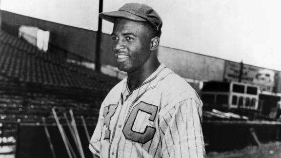 Shortly after he was discharged by the military in 1944, Robinson was signed by the Kansas City Monarchs of the Negro Leagues.