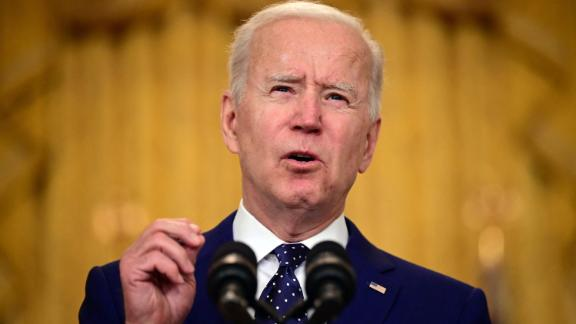 US President Joe Biden delivers remarks on Russia at the White House in Washington, DC on April 15, 2021. - The United States announced sanctions and the expulsion of 10 Russian diplomats Thursday in retaliation for what Washington says is the Kremlin's US election interference, a massive cyberattack and other hostile activity.
