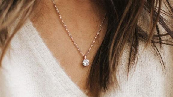 Roma Designer Jewelry Adjustable Milano Twist Chain + Brilliant CZ Pendant