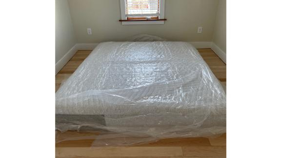 The Casper mattress just two hours after unboxing
