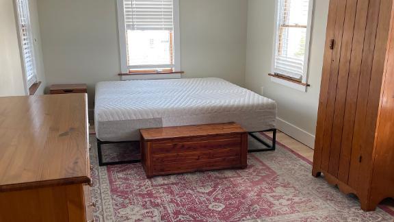 The Casper mattress set up at home