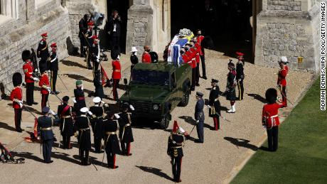 Queen Elizabeth bids farewell to Prince Philip at intimate funeral