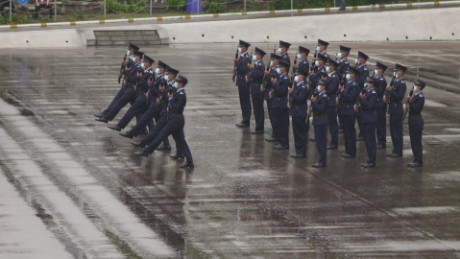 Hong Kong police showcase 'Chinese-style goose-stepping'