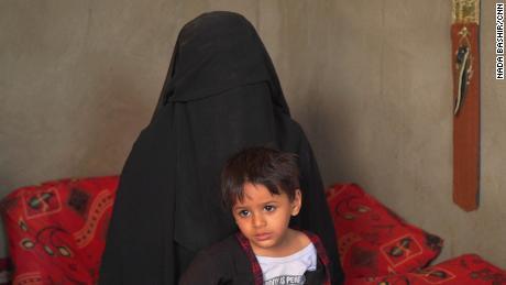 Nadia Yahya and her son Hamam.
