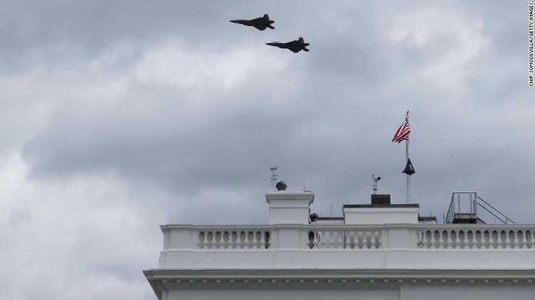 White House press briefing interrupted by flyover for new WWI memorial