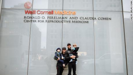 """Mazza and Melas pose with their two children at the fundraiser """"Run For A Chance."""""""