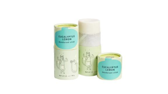 Package Free x Meow Meow Tweet Eucalyptus Lemon Deodorant Stick Duo