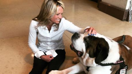 CNN's Kristin Wilson with Clarence earlier this week.