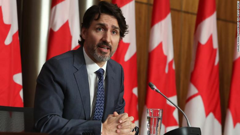 Trudeau warns Canada faces a serious third wave of Covid-19 cases as officials toughen lockdown measures