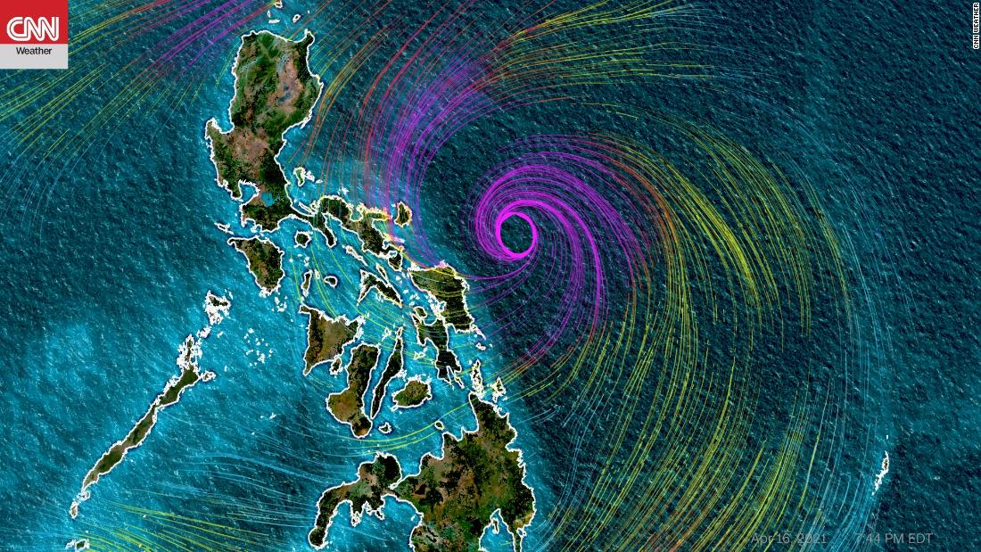 Typhoon rapidly strengthening, could move dangerously close to the Philippines