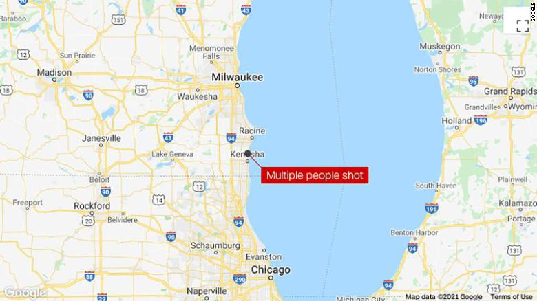 3 people killed and 2 injured in shooting in Kenosha, sheriff's department says
