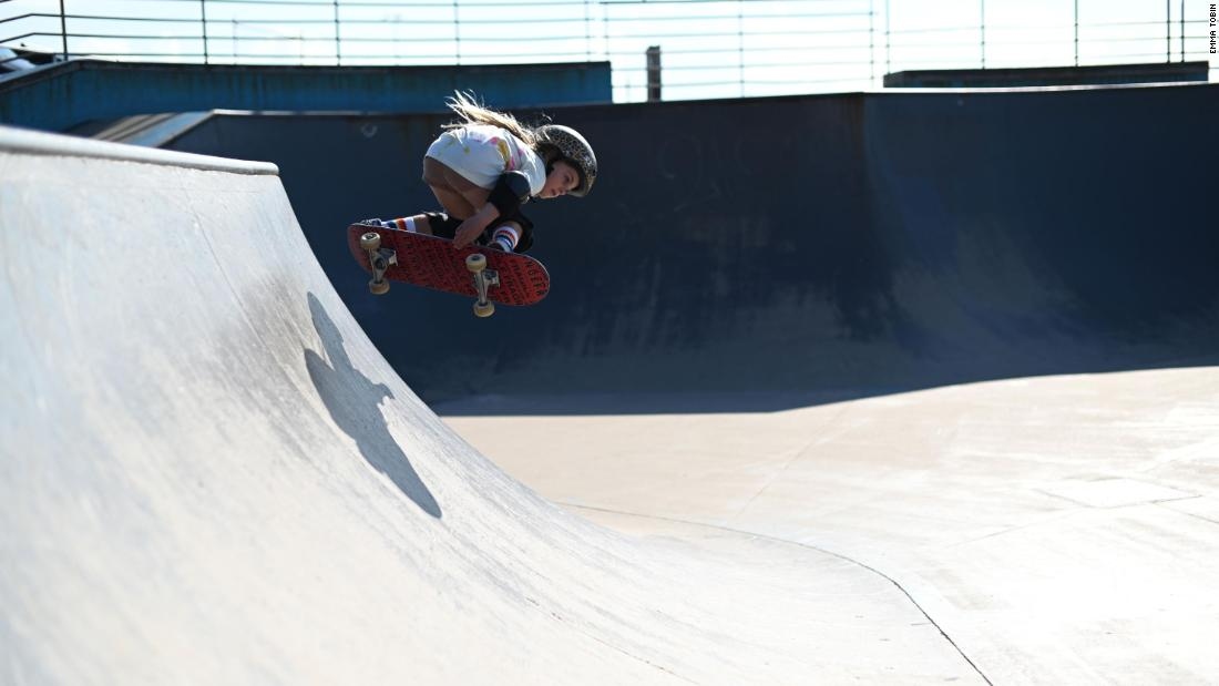 World's next skateboard star is a 6-year-old girl riding ramps double her size