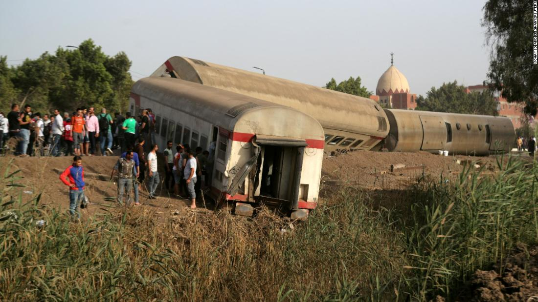 At least 97 injured in Egypt as train derails
