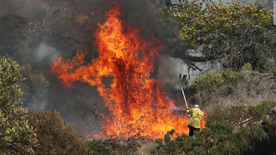 'Out of control' fire breaks out in Cape Town's Table Mountain National Park