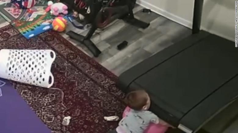 Video shows child getting caught under Peloton treadmill