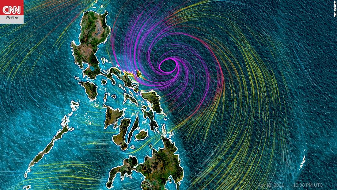 Typhoon Surigae is slowly moving away from the eastern provinces of the Philippines
