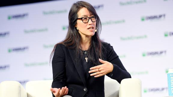 SAN FRANCISCO, CALIFORNIA - OCTOBER 04: Project Include Co-Founder & CEO Ellen Pao speaks onstage during TechCrunch Disrupt San Francisco 2019 at Moscone Convention Center on October 04, 2019 in San Francisco, California. (Photo by Steve Jennings/Getty Images for TechCrunch)