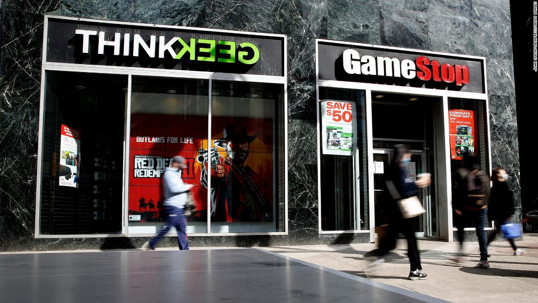 GameStop CEO George Sherman is stepping down, sending the stock soaring