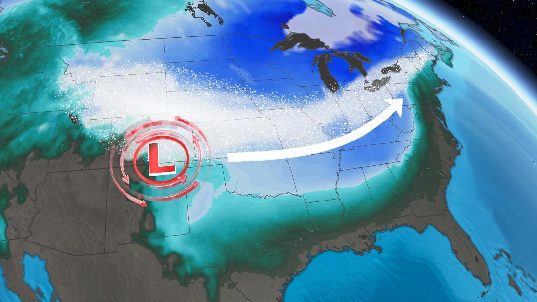 An unusual storm is bringing cold temperatures, snow across America