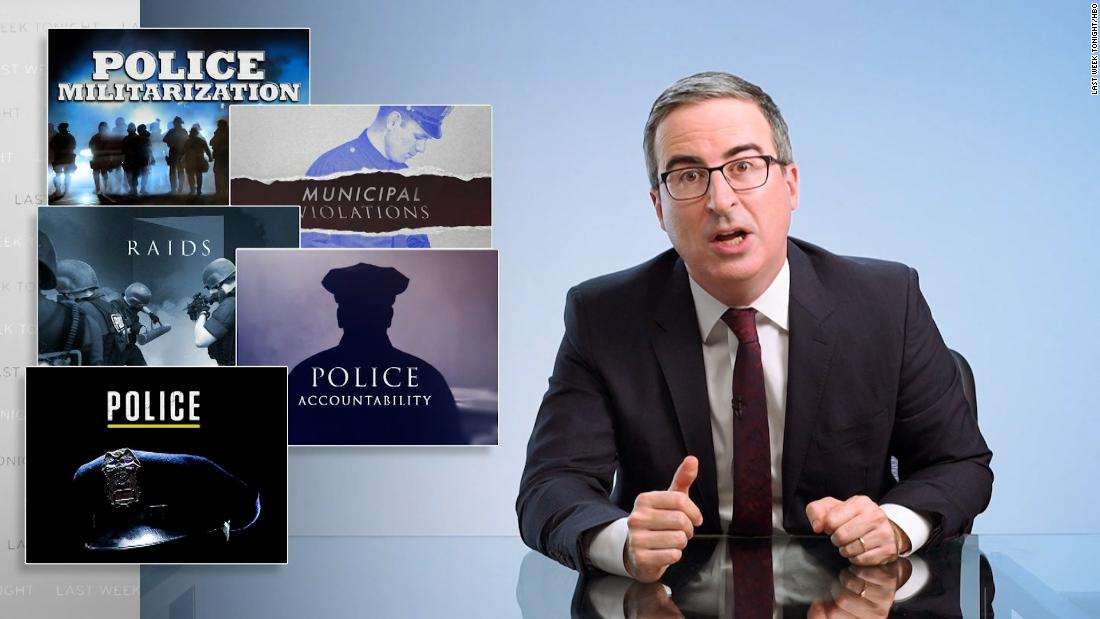 John Oliver to White Americans: 'March in the streets'
