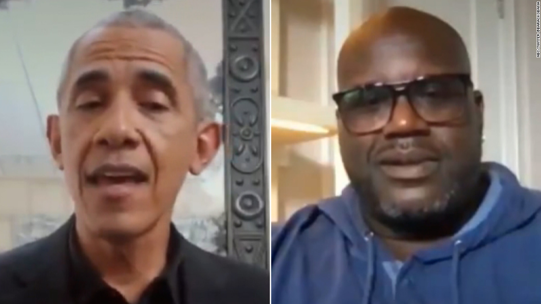 Obama and Shaquille O'Neal urge Americans to get vaccinated