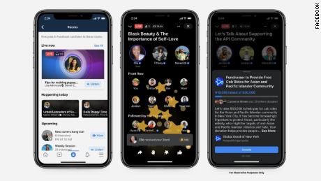 Facebook Live Audio Rooms mimics the experience on Clubhouse and Twitter Spaces