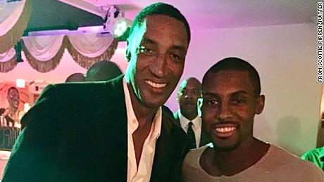 Scottie Pippen, left, announced the death of his eldest son, Antron, on social media.