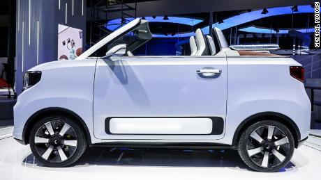 The Wuling Hong Guang Mini EV Cabrio is even smaller than a Fiat 500.